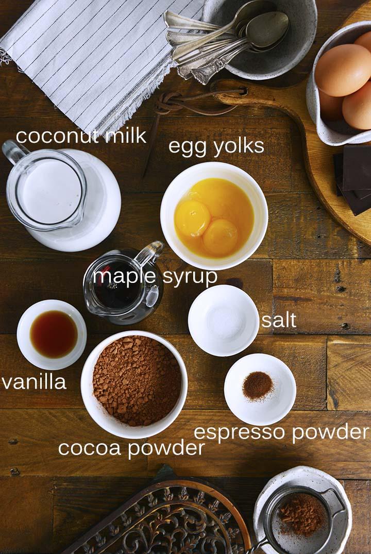 Chocolate Custard Ingredients