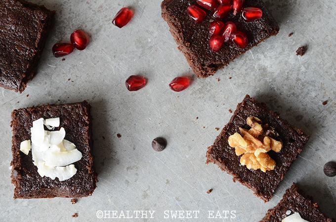 Festive Dark Chocolate Peppermint Brownies 4