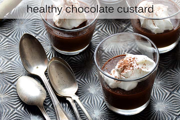 Healthy Chocolate Custard with Description