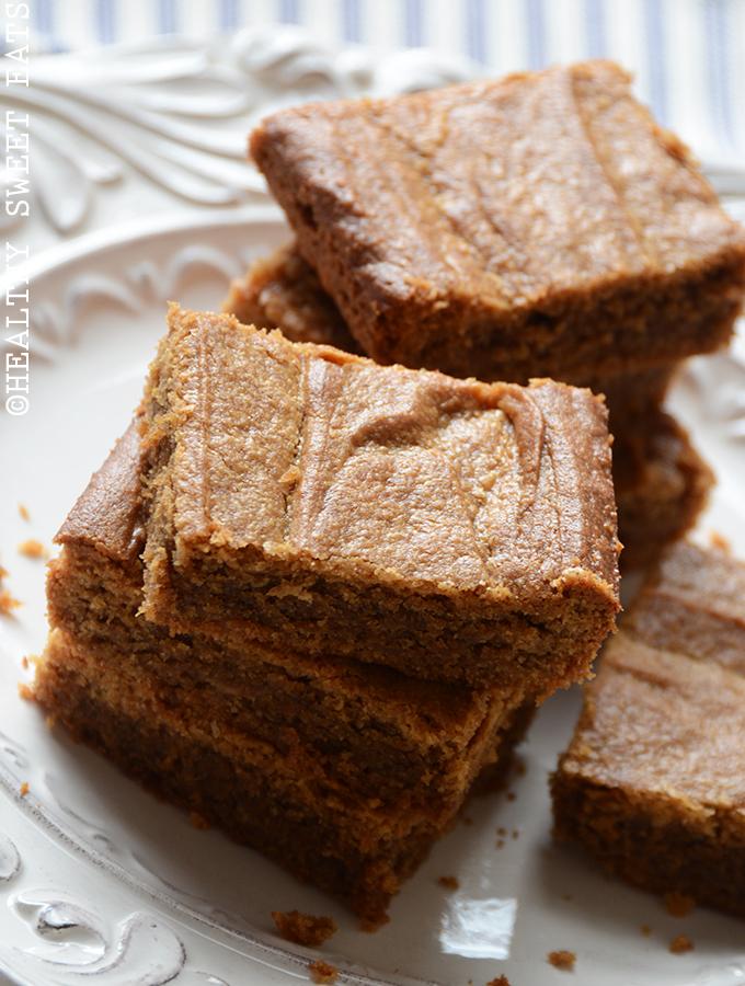 Maple Cinnamon Peanut Butter Blondies 2