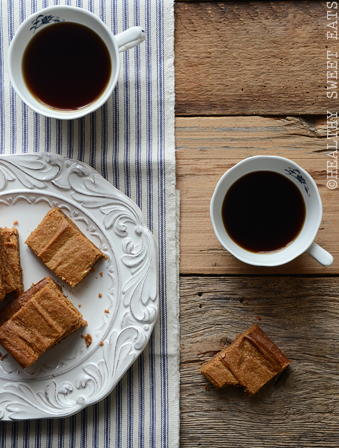 Maple Cinnamon Peanut Butter Blondies