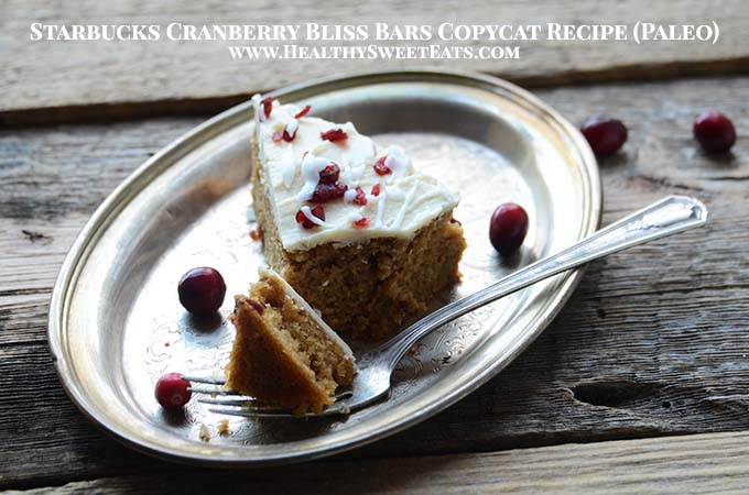 Starbucks Cranberry Bliss Bars Copycat Recipe (Paleo) with Description