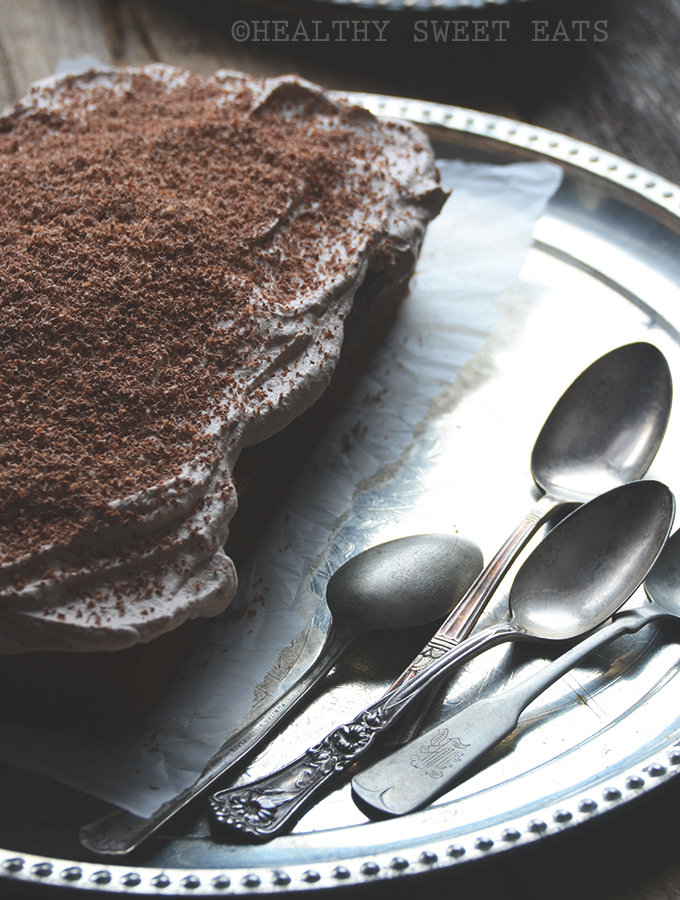 Mocha Coconut Flax Cake with Mocha Coconut Frosting 2