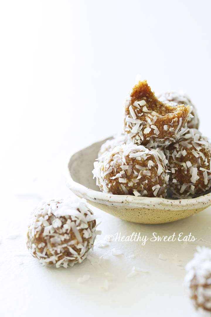Front View of Date Coconut Balls