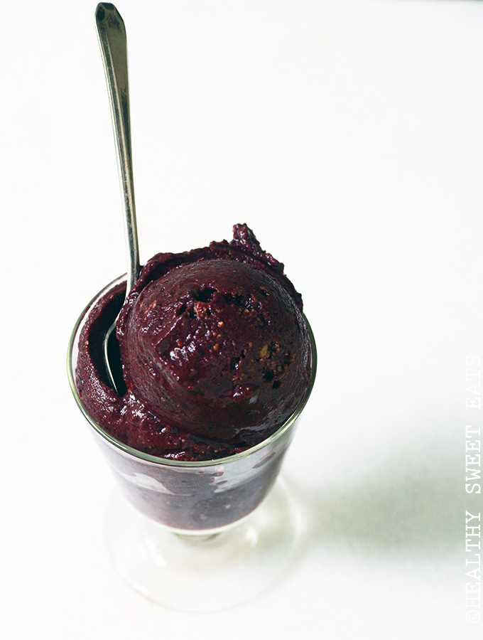 10-Minute Blueberry Cheesecake Sorbet 1