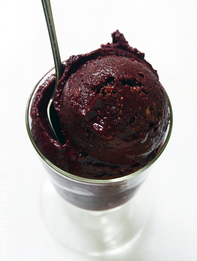 10-Minute Blueberry Cheesecake Sorbet 3
