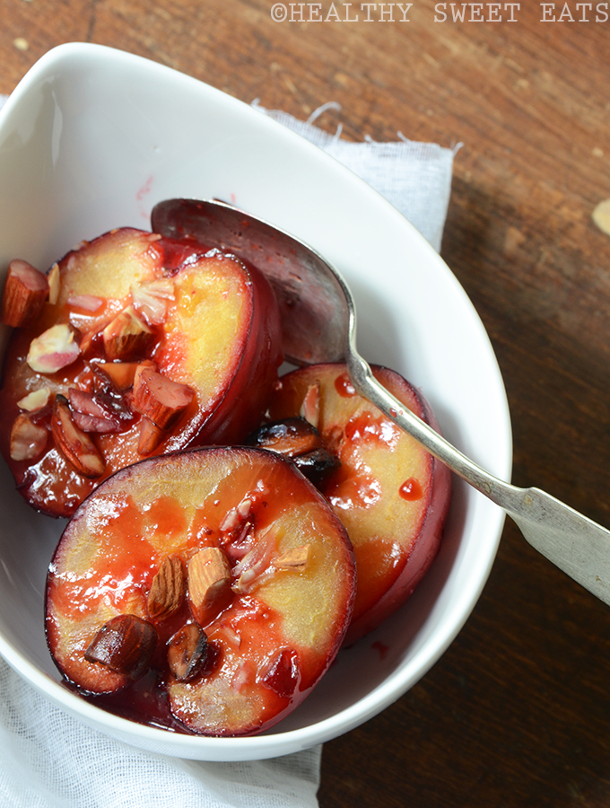 Honey Roasted Plums with Almond 1