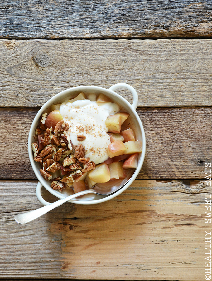 "5-Minute Cinnamon-Pecan ""Baked"" Breakfast Apple 2"
