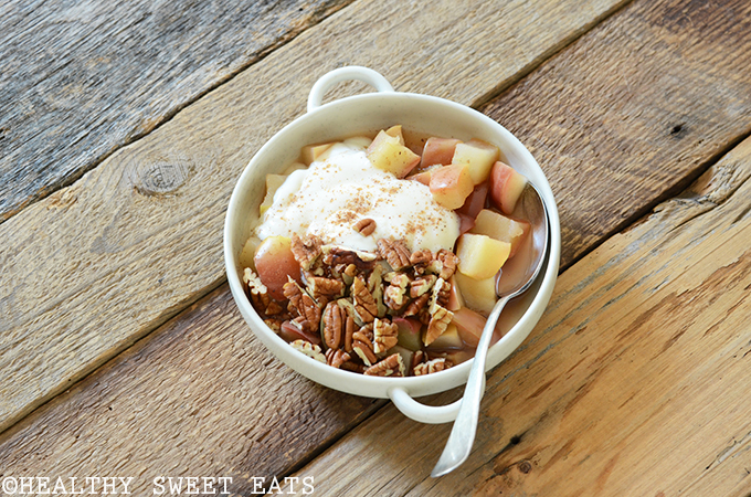 "5-Minute Cinnamon-Pecan ""Baked"" Breakfast Apple 3"