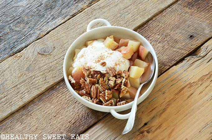 "5-Minute Cinnamon-Pecan ""Baked"" Breakfast Apple 3"