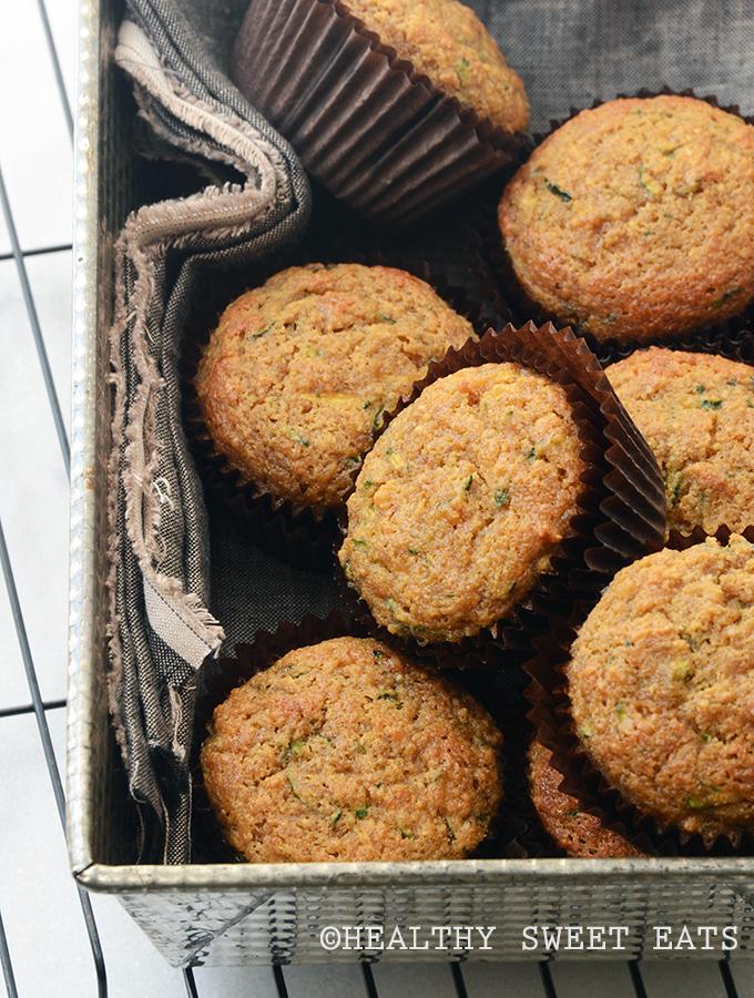 Almond-Scented Zucchini Muffins 3