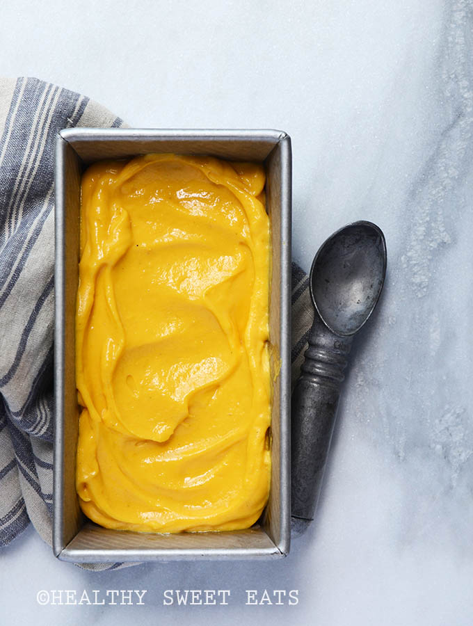 Easy No-Churn Mango Lassi Frozen Yogurt 3