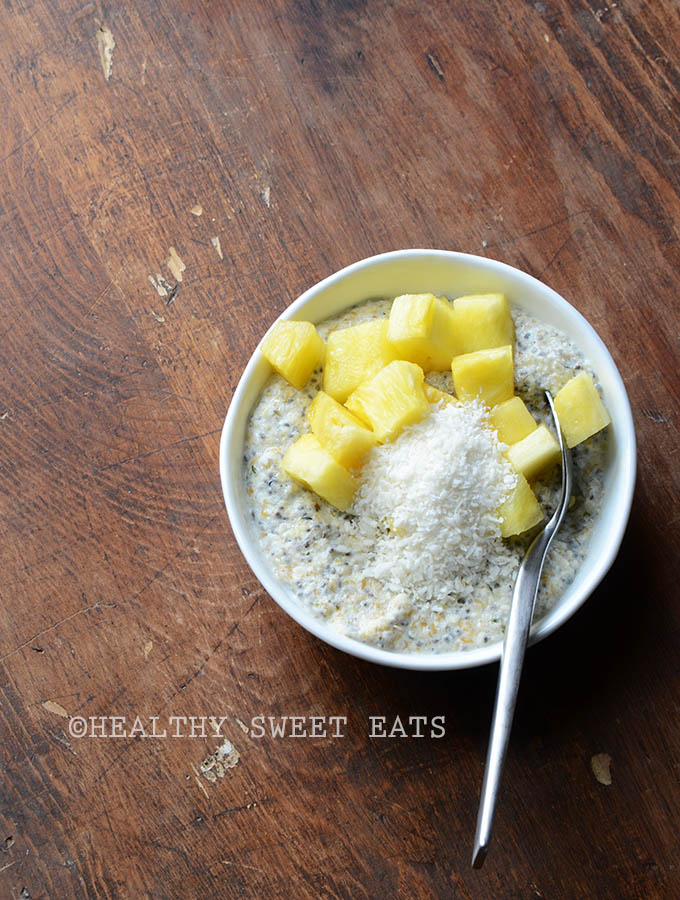 My Favorite Noatmeal (aka Low Carb Oatmeal) with Pineapple and Shredded Coconut