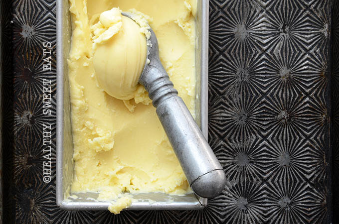 Easy No-Churn Pina Colada Sorbet 4