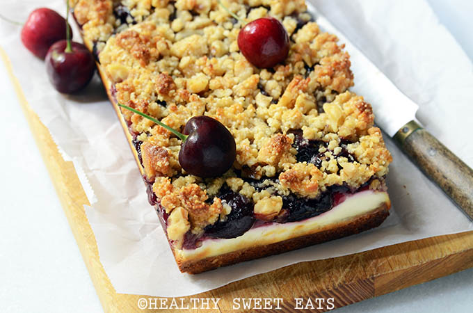 Cherry Cobbler Cheesecake Bars 3
