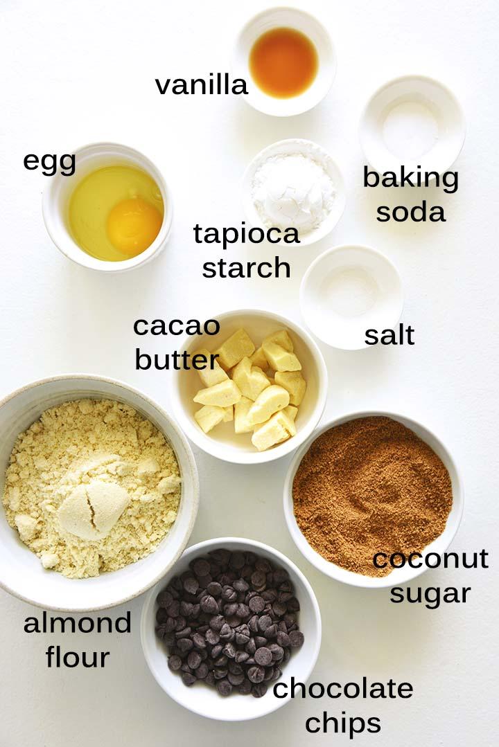 Gluten Free Chocolate Chip Cookies Ingredients