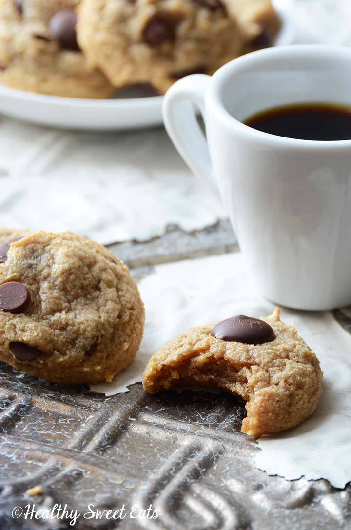 Paleo Chocolate Chip Cookie with Bite