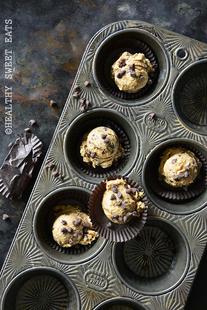 Low-Carb Chocolate Chip Cookie Dough Fat Bombs Diagonal View