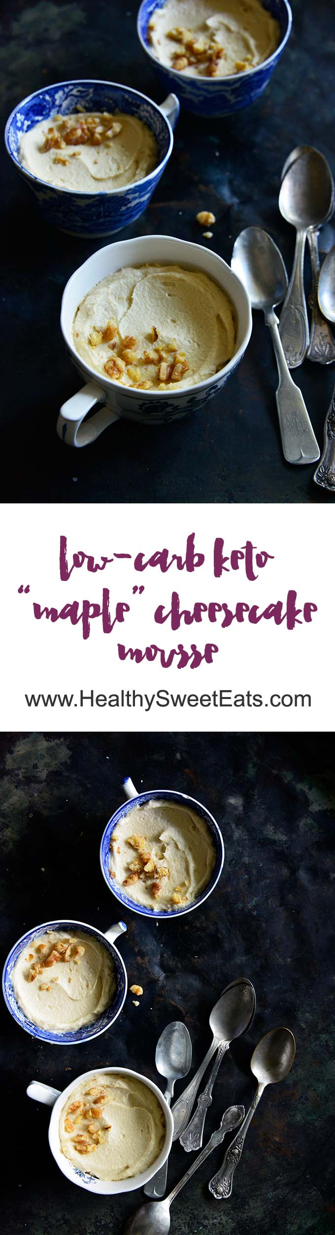 Low Carb Maple Cheesecake Mousse Long Pin