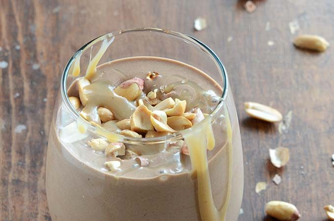 Healthy Paleo-Friendly Snickers Smoothie