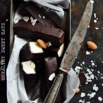 Keto Homemade Almond Joy Candy Bars in Pan