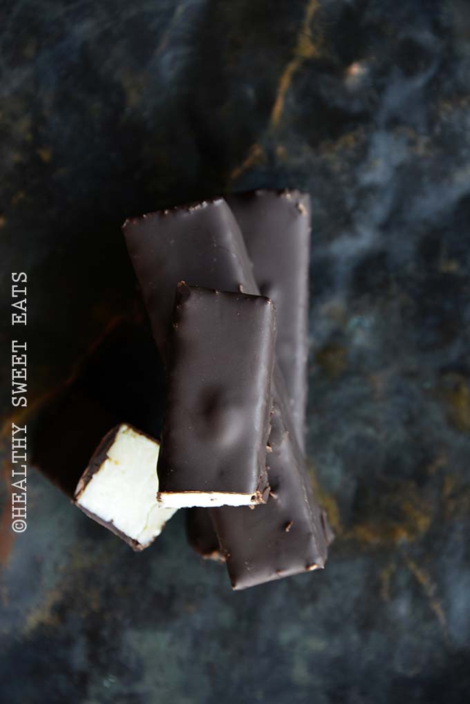 Overhead View of Keto Homemade Almond Joy Candy Bars