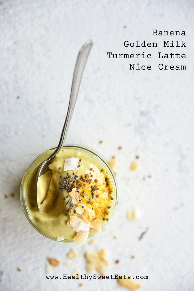 Banana Golden Milk Turmeric Latte Nice Cream with Description