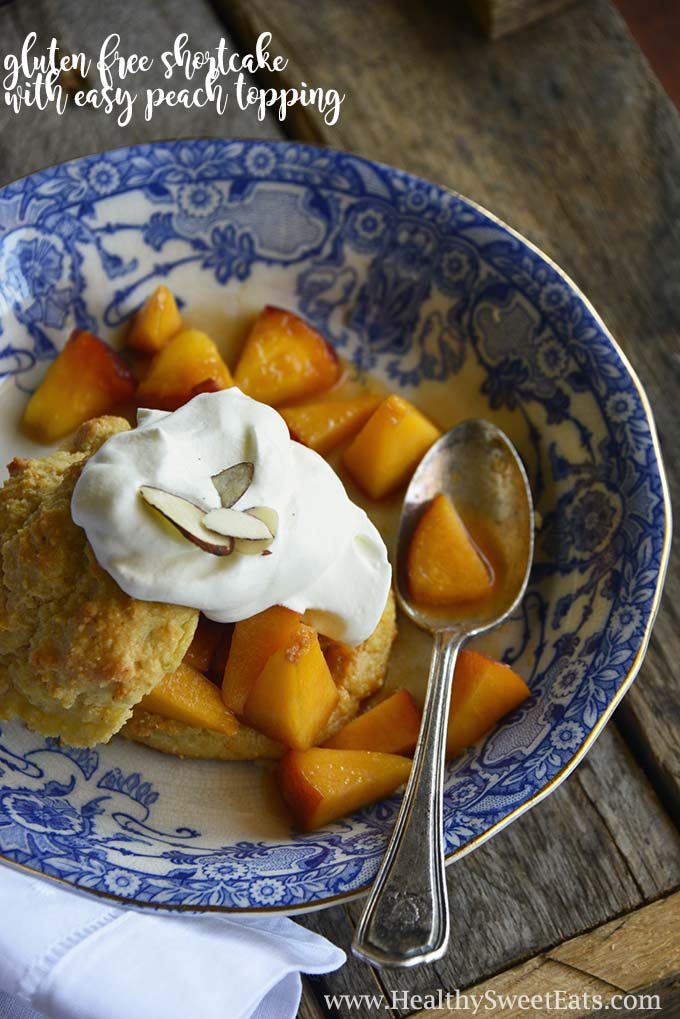 Gluten Free Shortcake with Easy Peach Topping with Description