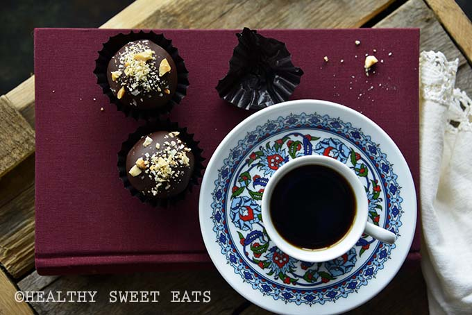 Low Carb Samoa Cookie Truffles with Coffee