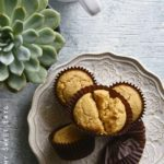 Low Carb Easy Pancake Muffin Recipe with Succulent Plant and Coffee Mug