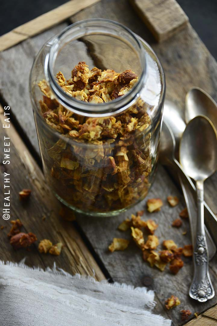 Low Carb Pumpkin Spice Gluten Free Granola Front View