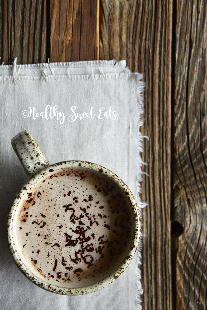 5 Minute Low Carb Hot Chocolate Recipe in Rustic Mug