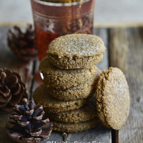 Small Batch Low Carb Chewy Molasses Ginger Cookies