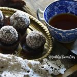 Front View of Low Carb Chocolate Rum Balls (Small Batch; Gluten Free)