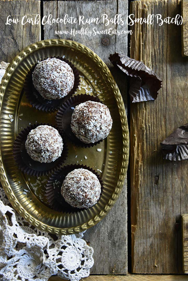 Low Carb Chocolate Rum Balls (Small Batch; Gluten Free) with Description