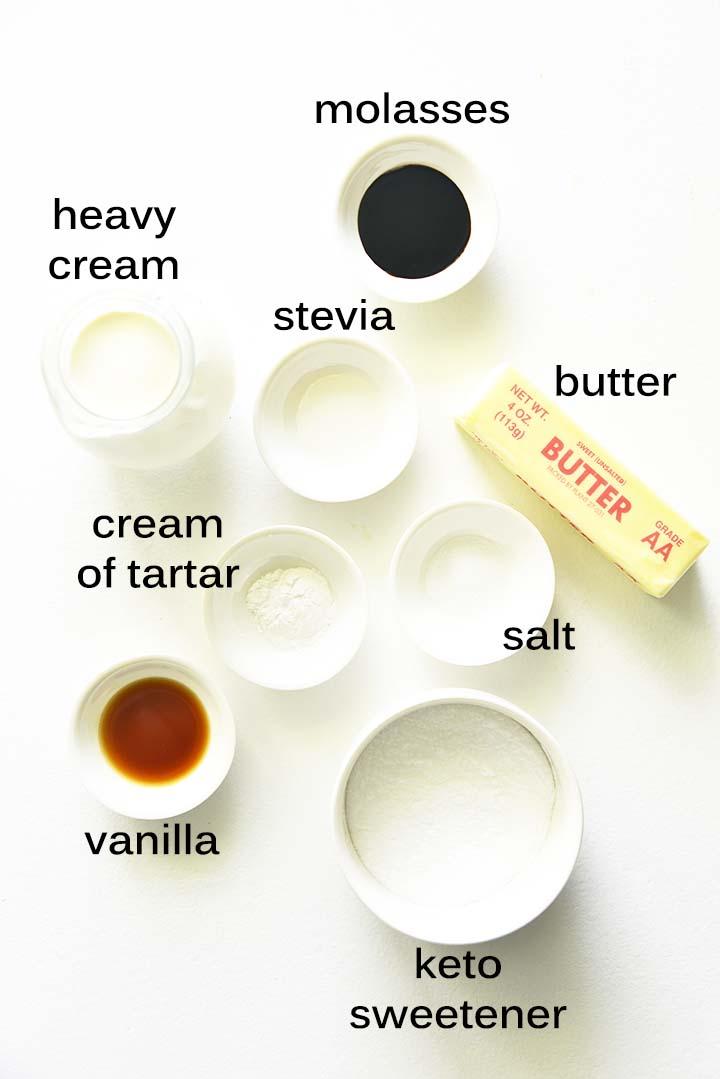 perfect keto caramel ingredients