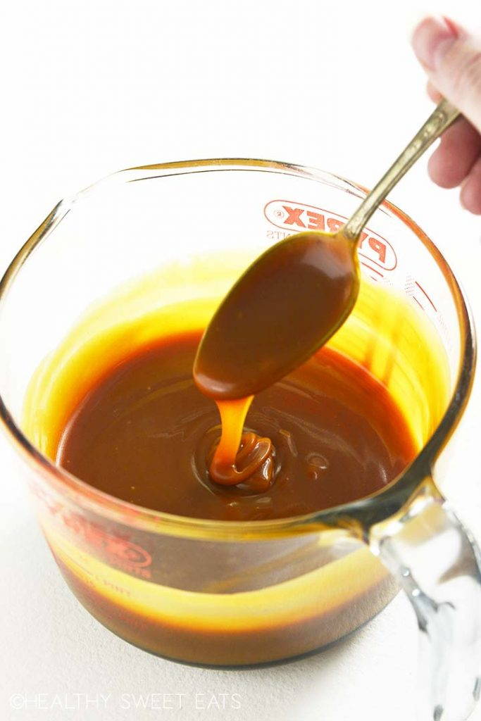 perfect keto caramel sauce made with allulose