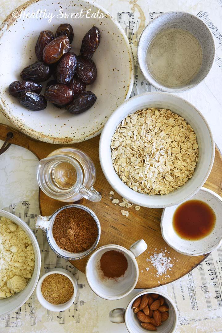 Date Bars Recipe Ingredients