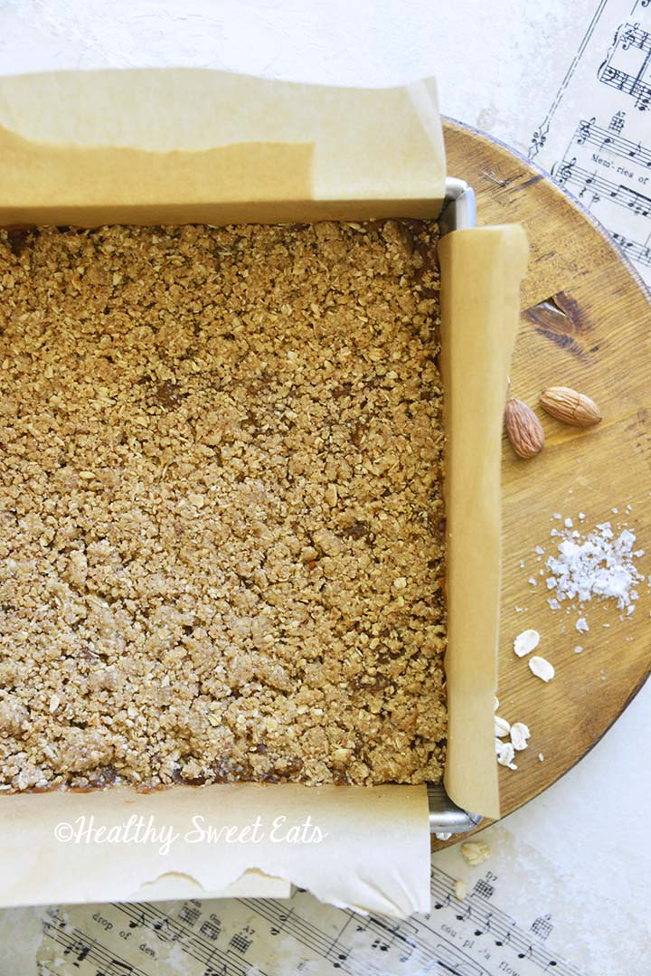 Healthy Date Bars Before Baking