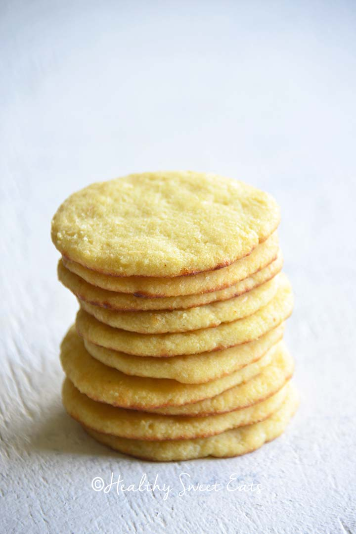 Stack of Soft Keto Sugar Cookies