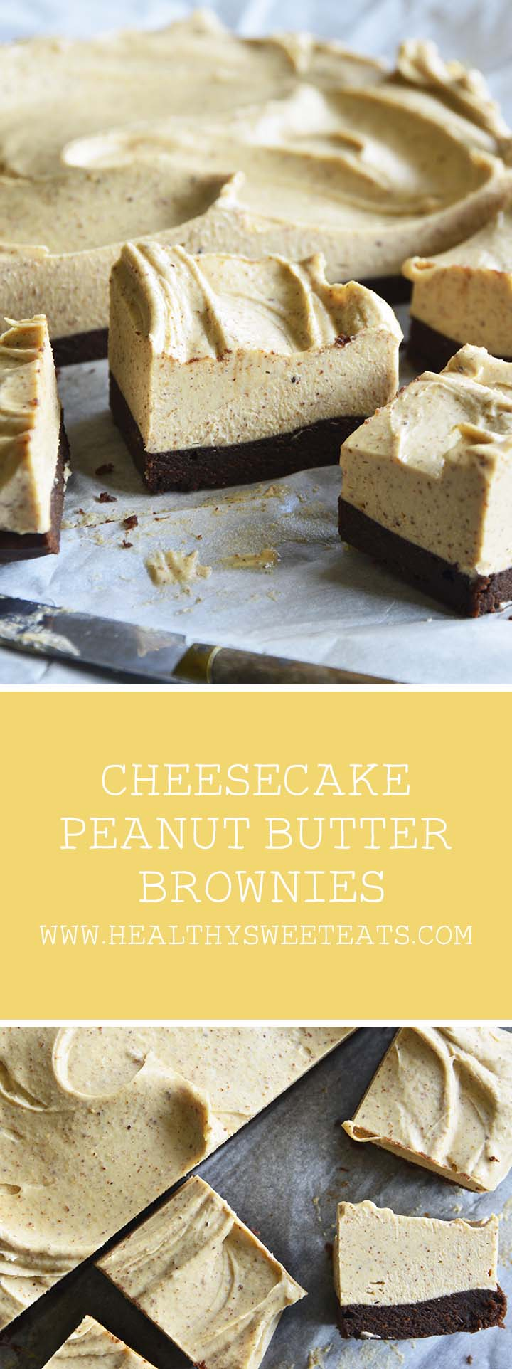 Cheesecake Peanut Butter Brownies Pin