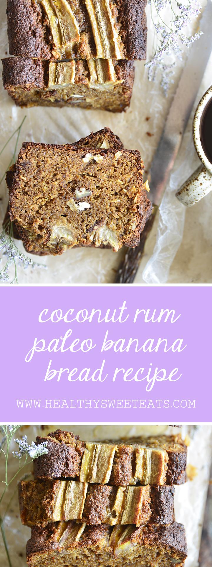 Coconut Rum Paleo Banana Bread Pin