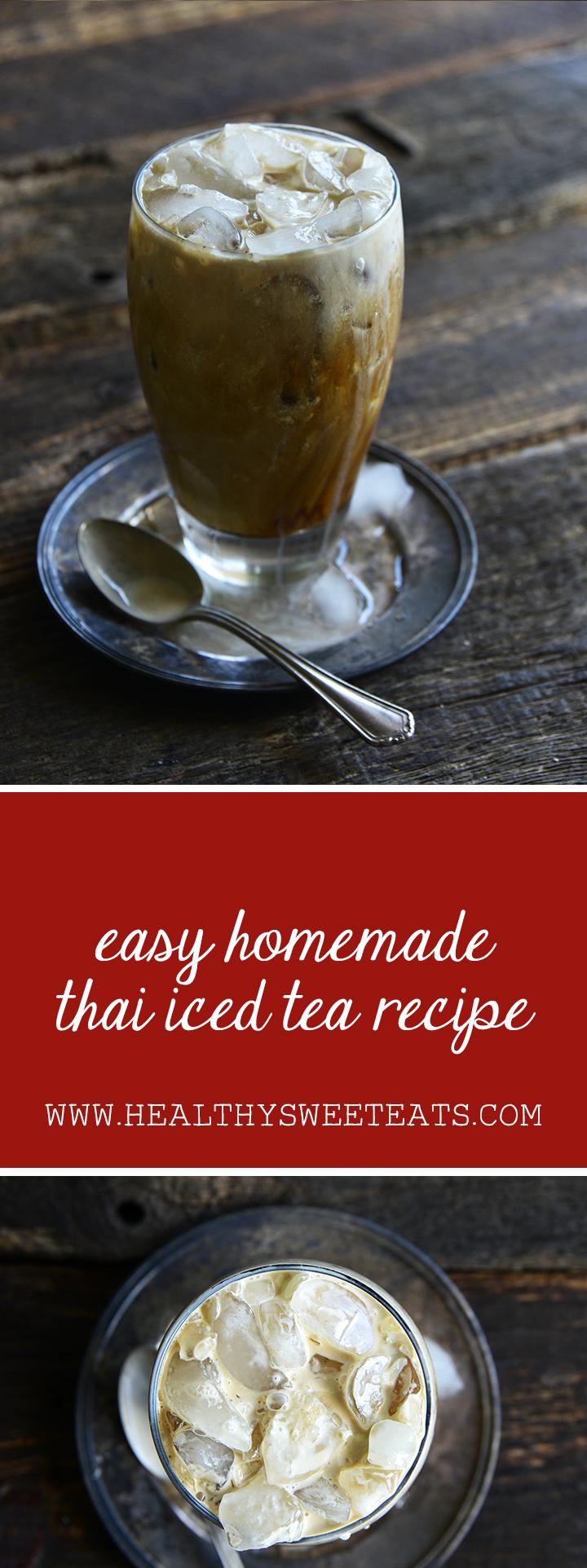 Easy Homemade Thai Iced Tea Recipe Pin