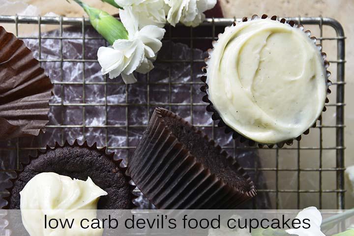 Devil's Food Cupcakes with Description