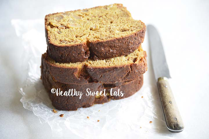 Close Up of Slices of Low Carb Cinnamon Apple Bread