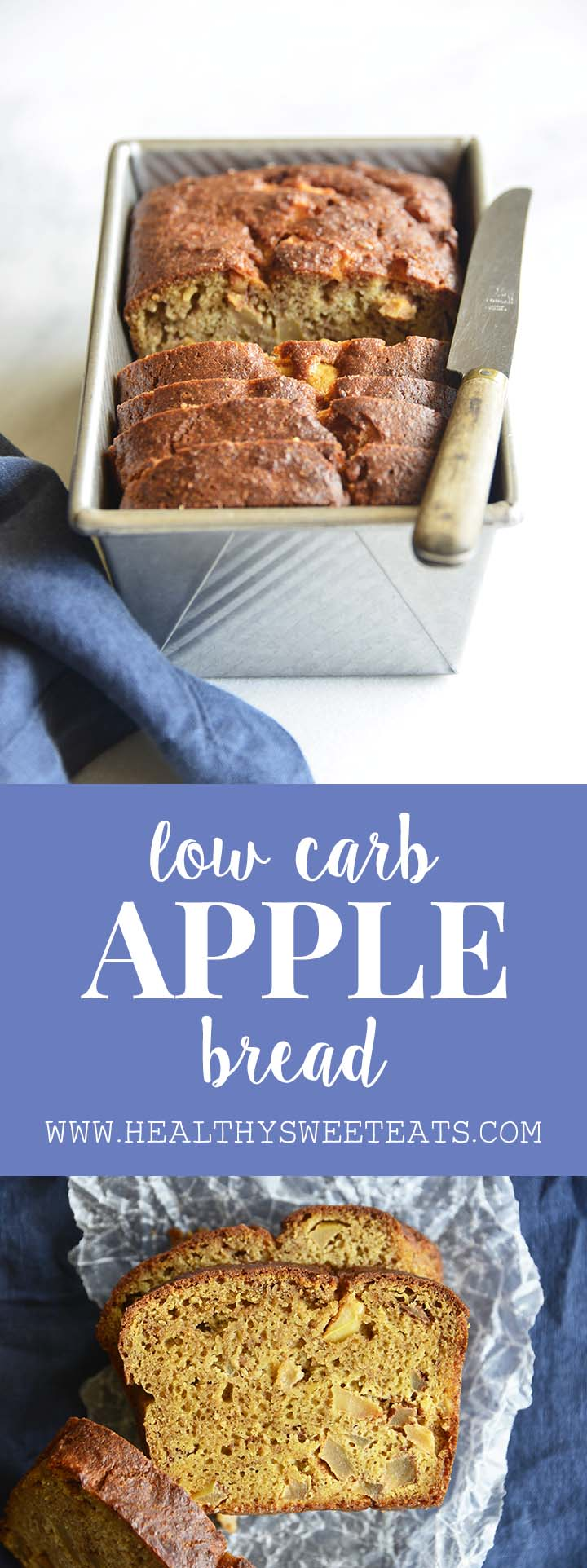 Low Carb Apple Bread Recipe Pin