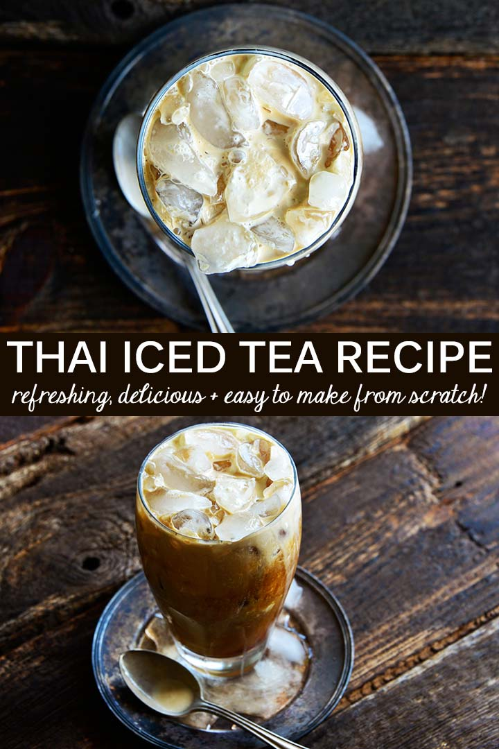 This Thai Iced Tea Recipe has a balanced flavor profile of sweetened black tea and complex spices with a creamy texture. It's made from scratch with no artificial ingredients or food dyes! #lowcarb #keto #glutenfree