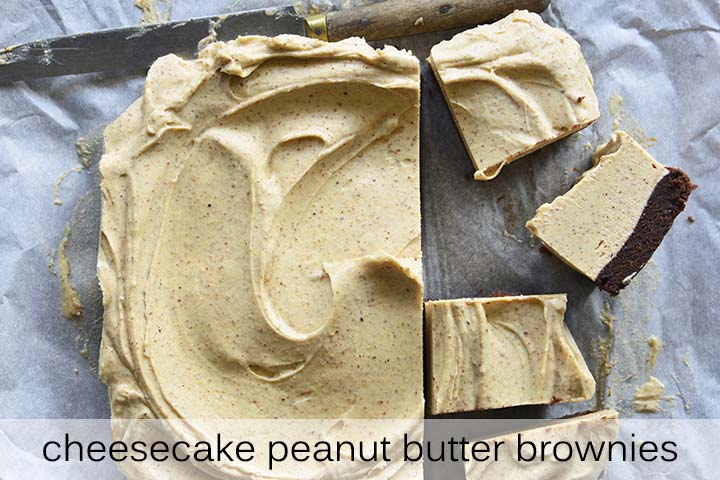 Low Carb Peanut Butter Brownies with Description