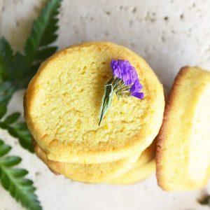 Keto Orange Shortbread Cookies Featured Image