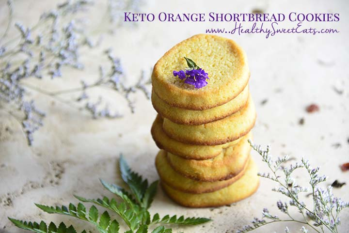 Keto Orange Shortbread Cookies with Description on Healthy Sweet Eats